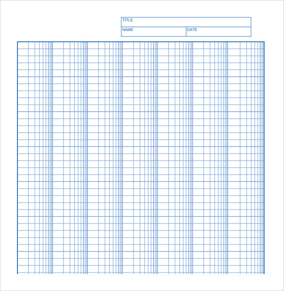 free printable log graph paper template